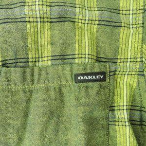 Oakley Shirts - Oakley green plaid check men's shirt